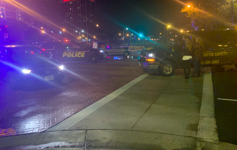 There was a car accident on the corner of 10th Street and Wisconsin Avenue.