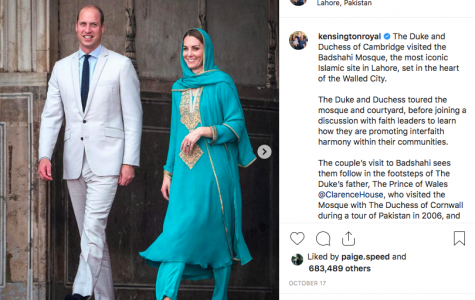 The Duke and Duchess of Cambridge in Pakistan. Photo via Instagram.