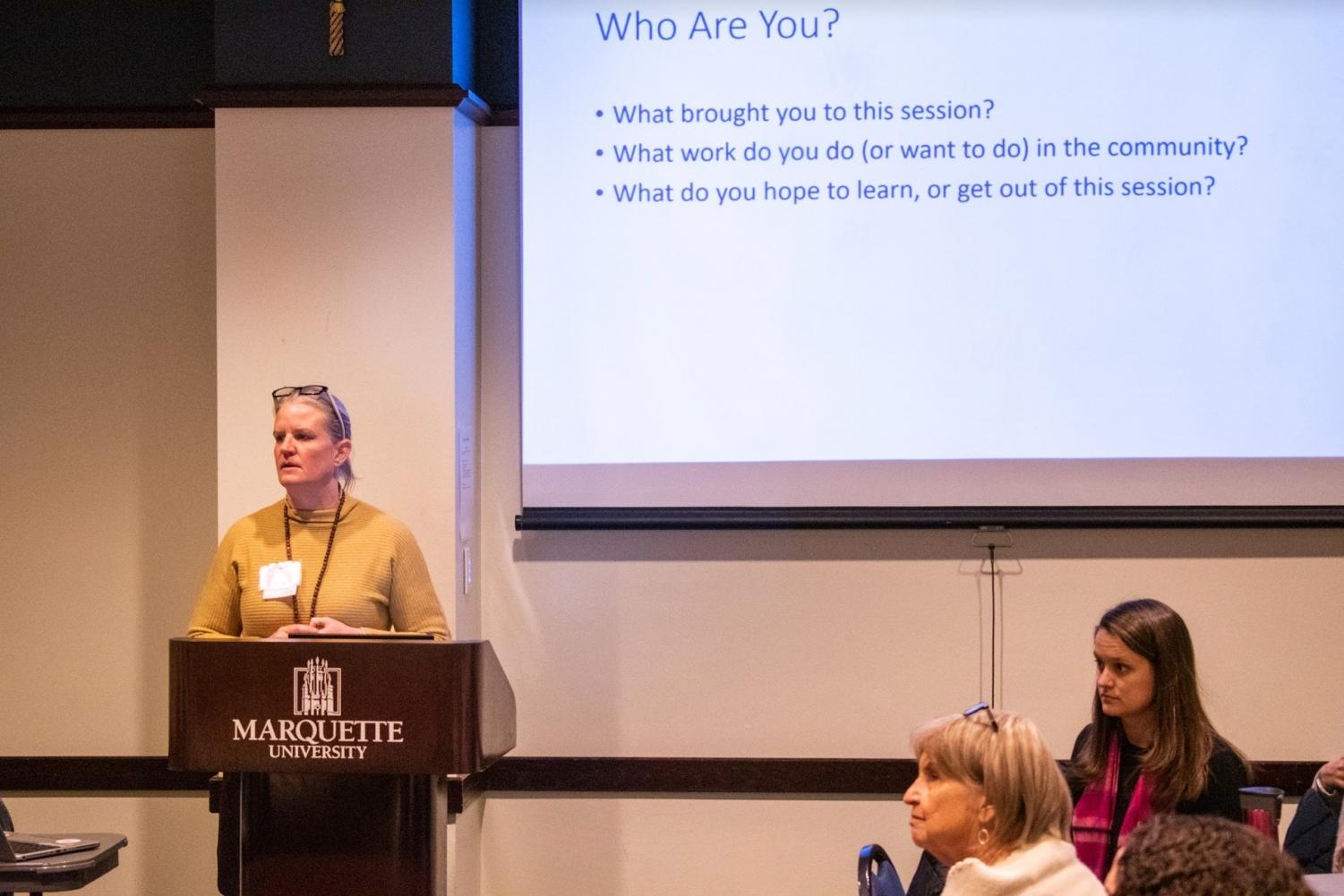 "The event focused on gathering around the ""Six Pathways to Public Engagement"" that were identified by the Haas Center for Public Service at Stanford University, according Marquette's website."