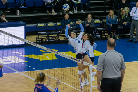 Volleyball upsets No. 9 BYU on the road in four sets