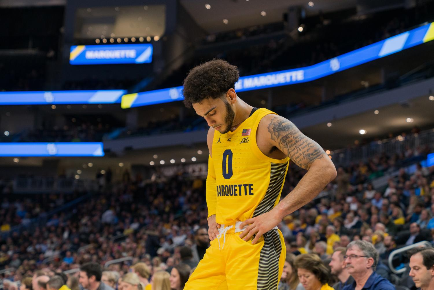 Senior guard Markus Howard scored 38 points and became the program's all-time leading scorer in Marquette's 88-53 win over Loyola Maryland Nov. 5 at Fiserv Forum.