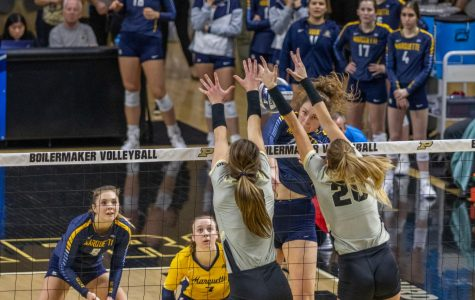 Volleyball season ends in four-set loss to No. 16 seed Purdue
