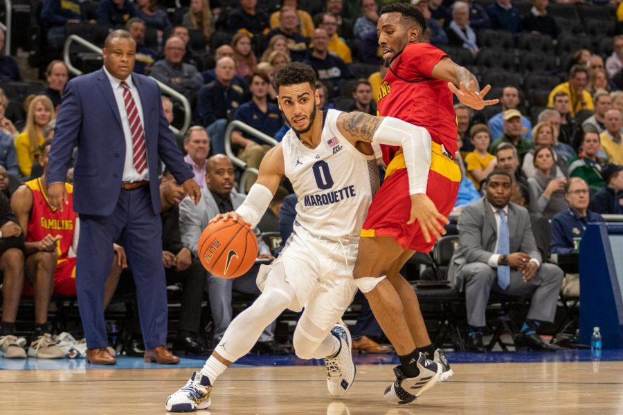 Markus Howard scored 26 points in Marquette's 93-72 win over Grambling State Dec. 17 at Fiserv Forum.