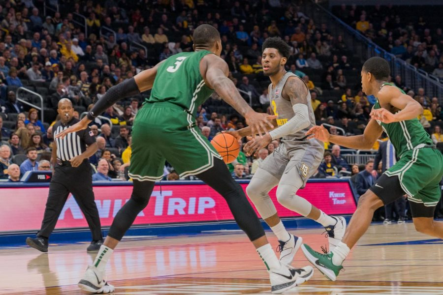 Sacar Anim had a team-high 19 points in the Golden Eagles win vs. Jacksonville Dec. 4 at Fiserv Forum.