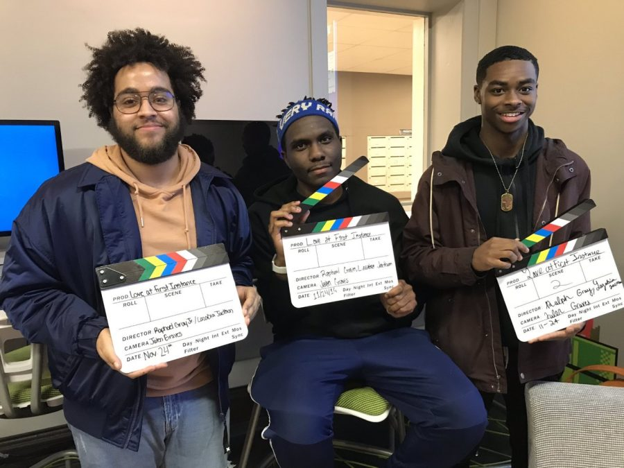 Listed from left to right, the winners of this year's competition were junior Raphael Gray, senior Jalen Graves and sophomore Lazabia Jackson, all from the College of Communication. Photo courtesy of Jalen Graves.