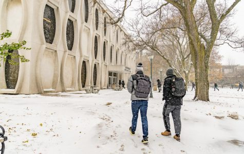 Winter weather affects multiple aspects of everyday life, such as a walk to class. Service events can bring the Milwaukee community together during the harsh months of the year. Marquette Wire stock photo.
