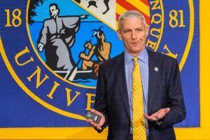 Lovell speaks at his sixth annual presidential address in the AMU.   MU Wire Stock Photo