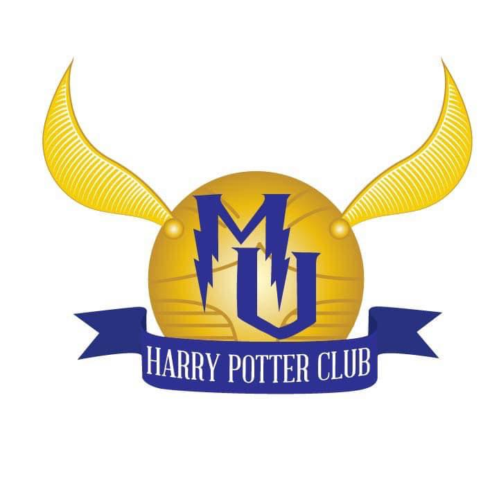 Member Noelle Wills designed a logo inspired by the Snitch, a piece of equipment used in a sport unique to the series called Quidditch. Photo courtesy of Harry Potter Club