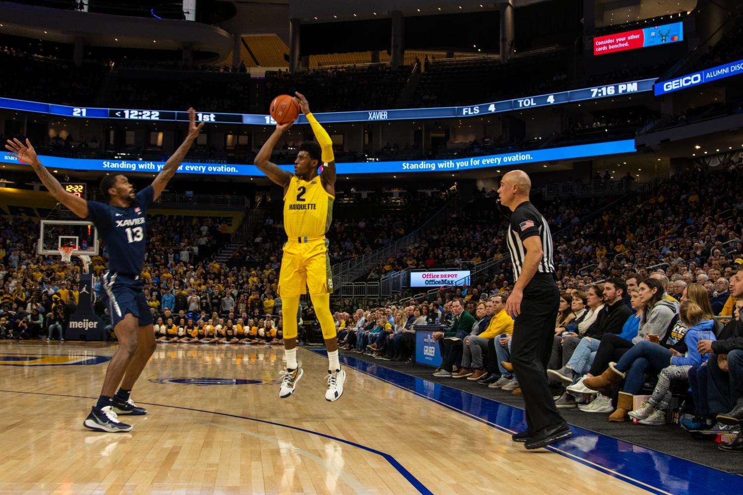 With 12 points Wednesday night, Sacar Anim (2) broke a three-game streak without double digit scoring totals.