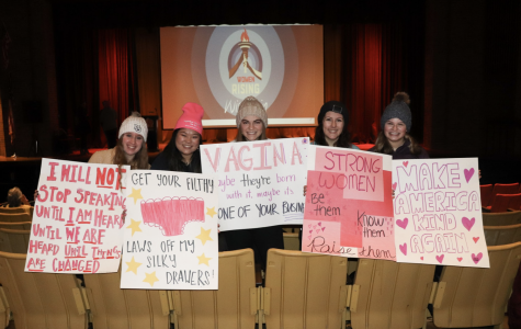 Marquette students attended the Women's March at South Division High School.