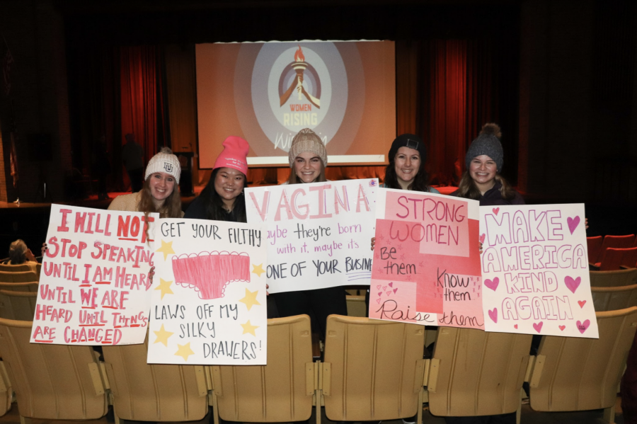 Marquette students attended the Womens March at South Division High School.