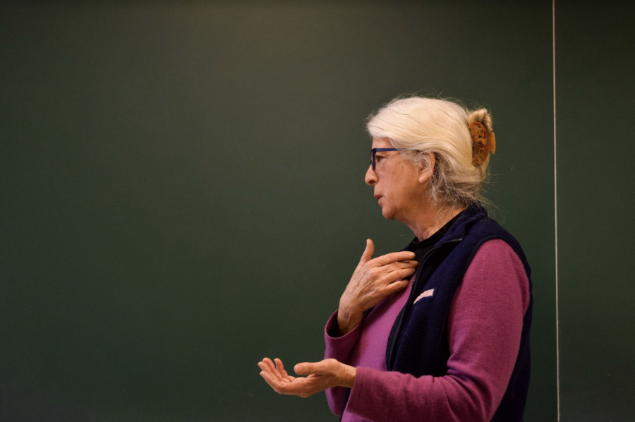 Dorothy Day's granddaughter Martha Hennessy visited Marquette's campus.