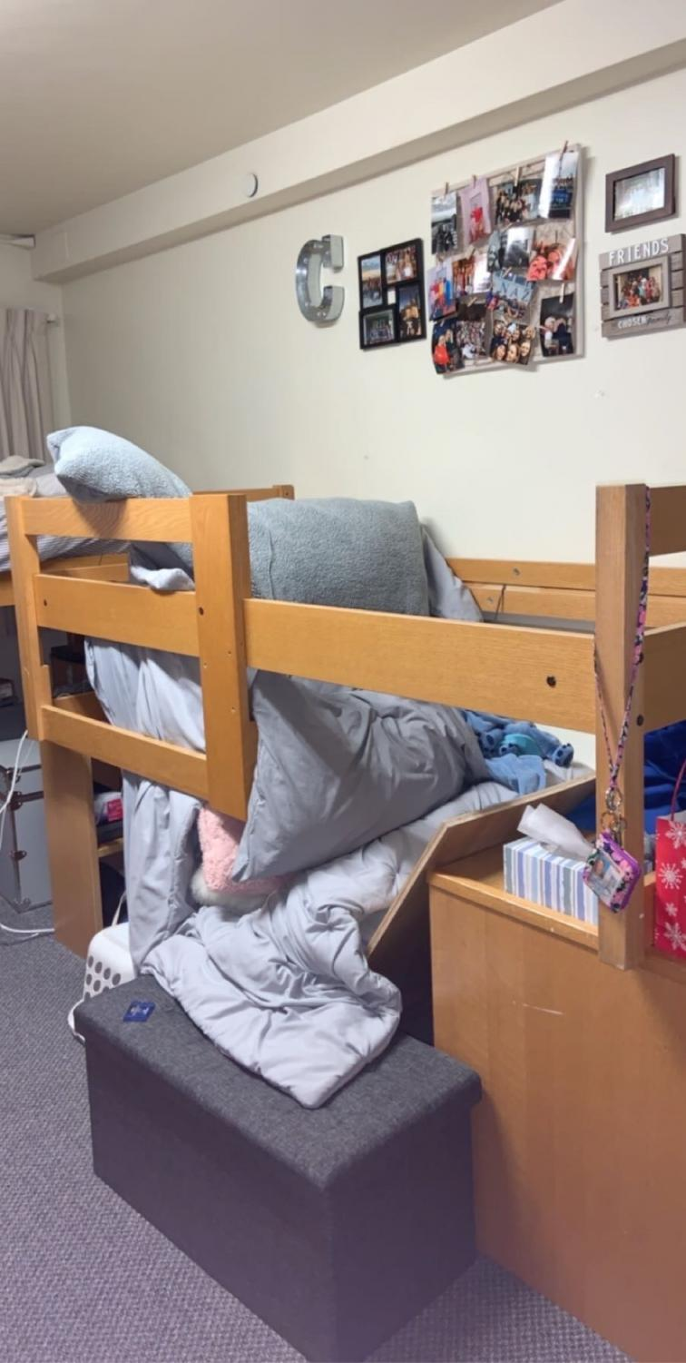 Catherine Sajdak said she put very little weight on the bed when it collapsed.  Photo courtesy of Catherine Sajdak