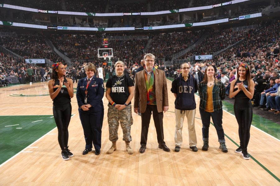 Pride Night is one of several theme nights the team hosts at Fiserv Forum, others including