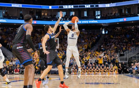 The nation's leading scorer, Markus Howard (0), has averaged 29.7 points over 10 BIG EAST games this season.