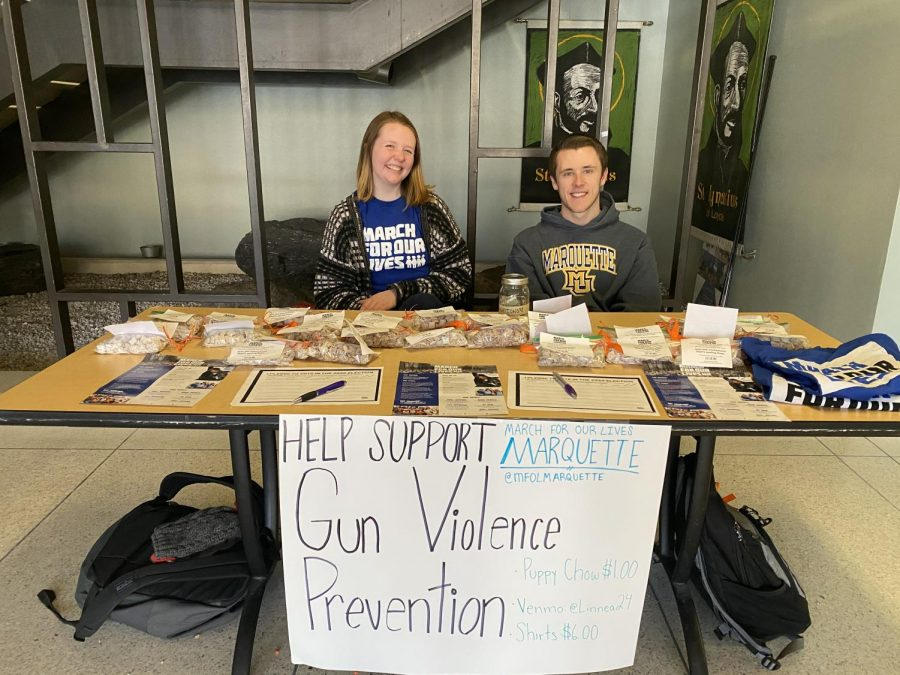 Linnea Stanton and Jake Hanauer, the co-chairs of March for Our Lives at MU.