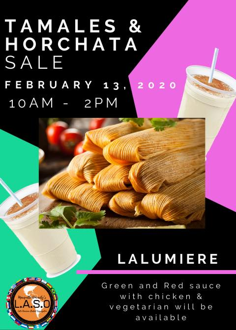 LASO's Tamales and Horchata Sale took place Feb. 13 in Lalumiere Hall.