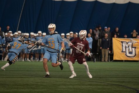 Men's lacrosse uses hot start to outlast Bellarmine in home opener