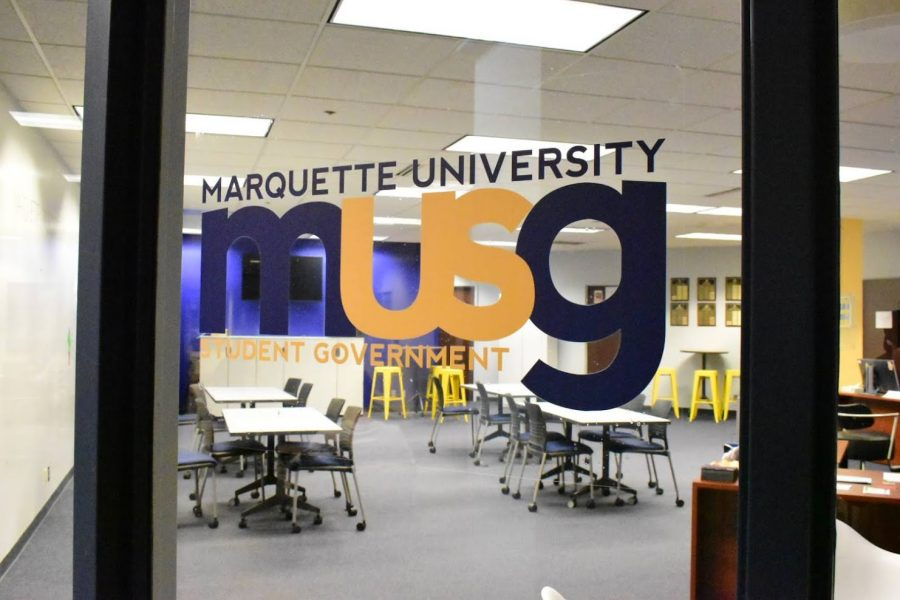 The Marquette University Student Government office is located on the first floor of the Alumni Memorial Union at 1442 W. Wisconsin Ave., Milwaukee, WI 53233.