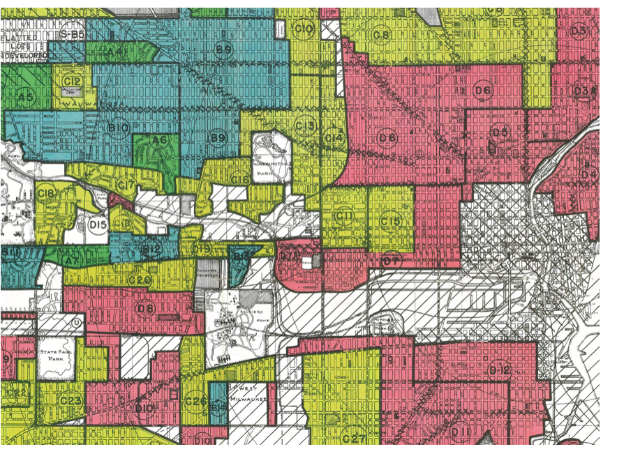 1930s Redlining Milwaukee Graphic via National Archives.