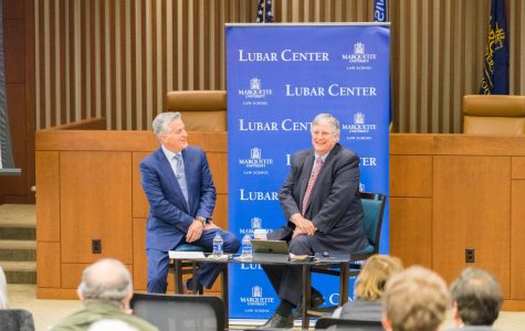Mike Gousha presented results of the law school poll at