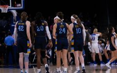 Marquette huddles during its 88-74 loss to DePaul in the BIG EAST Tournament Finals.