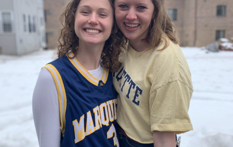 Seniors Lindsey Clark (left) and Cora Flanagan (right) have been close friends and roommates since their first year at Marquette. Photo Courtesy of Cora Flanagan