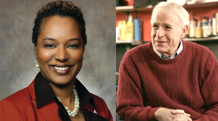 Lena Taylor (left) faces Tom Barrett in the mayoral race.   Photos courtesy of the Lena Taylor and Tom Barrett campaigns