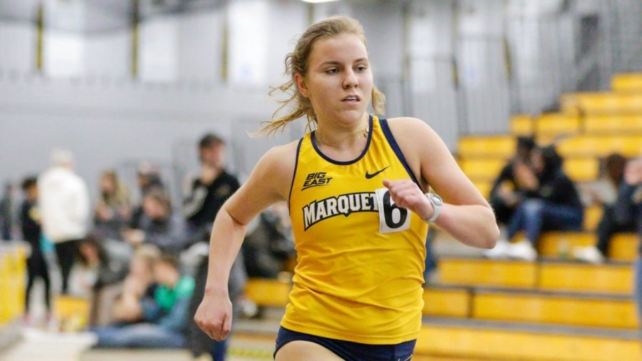 Sophie Bolich participates in the 2020 Panther Tune up at University of Wisconsin-Milwaukee Feb. 22. (Photo courtesy of Marquette Athletics.)