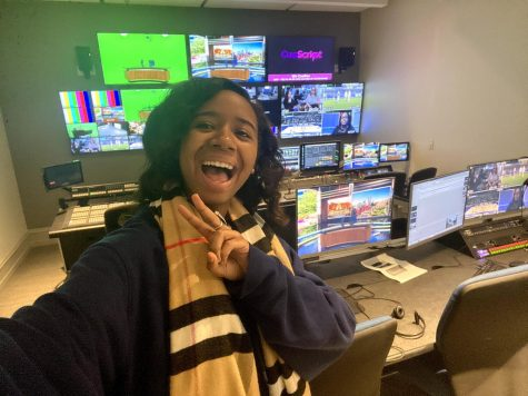 Kennedy Coleman in the Johnston Hall 2nd floor control room in January 2020.