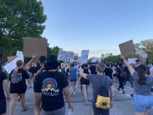 Black Lives Matter protest marches through campus, students participate