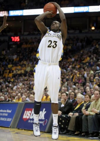 Dwight Buycks takes a shot. (Photo courtesy of Marquette Athletics)