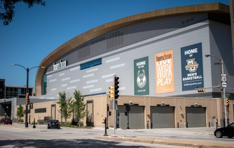 Fiserv Forum, the arena for the NBA's Milwaukee Bucks, is also the home court for the Marquette men's basketball team.