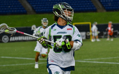 Zach Melillio (50) is a faceoff specialist with the Chesapeake Bayhawks. (Photo courtesy of Major League Lacrosse.)
