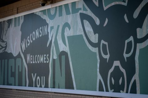 Mural on the side. of Fiserv Forum.