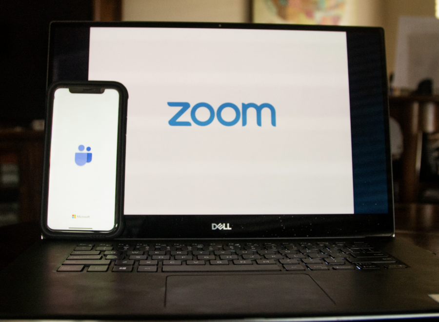 Students turn to Zoom and other modes of technology to stay connected.