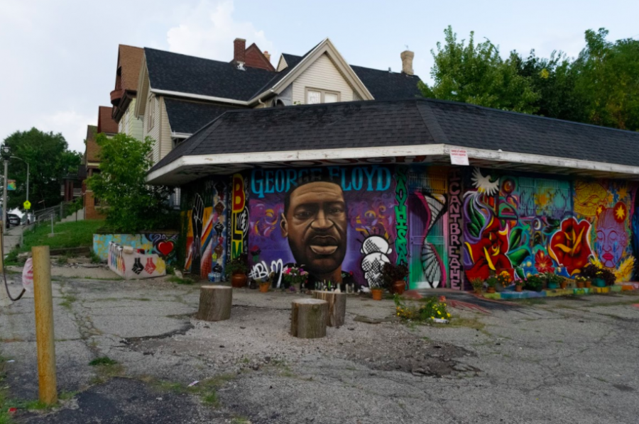 Murals depict images supporting the Black Lives Matter movement around Milwaukee.