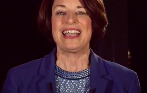 Amy Klobuchar speaks on the first night of the Democratic National Convention.  Screenshot from livestream from DNC website.