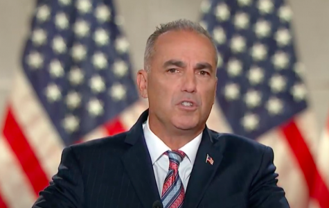 Andrew Pollack speaks about his daughter and speaking with President Donald Trump at Republican National Convention.  Screenshot from RNC livestream.