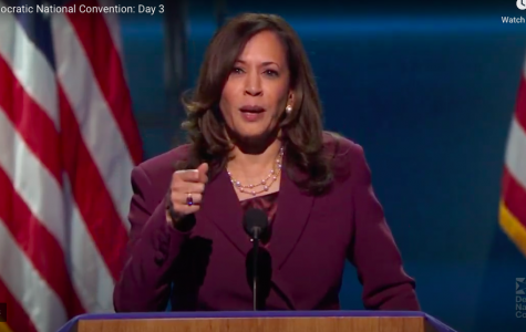Kamala Harris officially becomes the vice presidential nominee on the Democratic ticket.  Screenshot from DNC livestream.