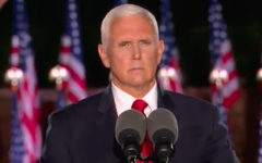 Vice President Mike Pence wraps up the third day of the Republican National Convention.  Screenshot from RNC livestream.