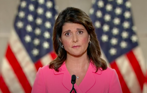 Nikki Haley spoke on the first night of the Republican National Convention. Screenshot from RNC Livestream.