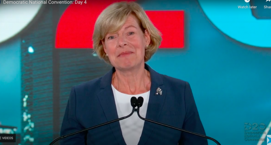 Sen. Tammy Baldwin talked about her personal story with healthcare on the final night of the Democratic National Convention.