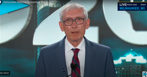 Gov. Tony Evers kicks off the third night of the DNC in Milwaukee.   Screenshot from DNC livestream.