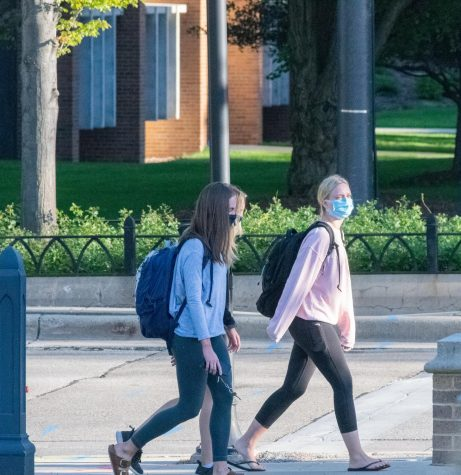 Students return to campus for the start of a new school year.