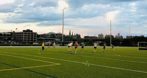 The field hockey club team plays at Valley Fields. (Photo courtesy of Annie Stelter.)