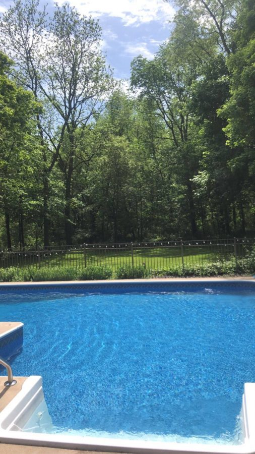 A pool looks refreshing as it can be on a warm summer day in quarantine. Photo courtesy of Sam Arco.