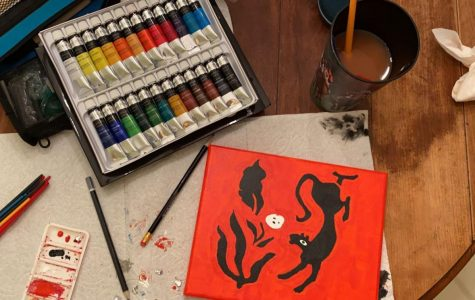 A set of paints to pass the time. Photo courtesy of Maria Crenshaw.