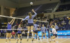 Allie Barber is the all-time leader in kills for the Marquette women's volleyball team.