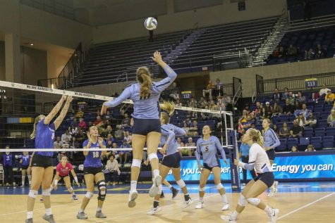 Allie Barber is the all-time leader in kills for the Marquette women